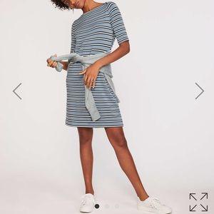 NWT Lou & Grey striped signature boatneck dress